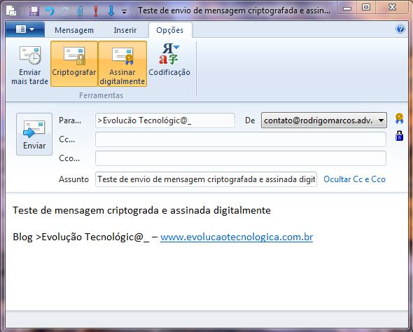 Tela Windows Live Mail