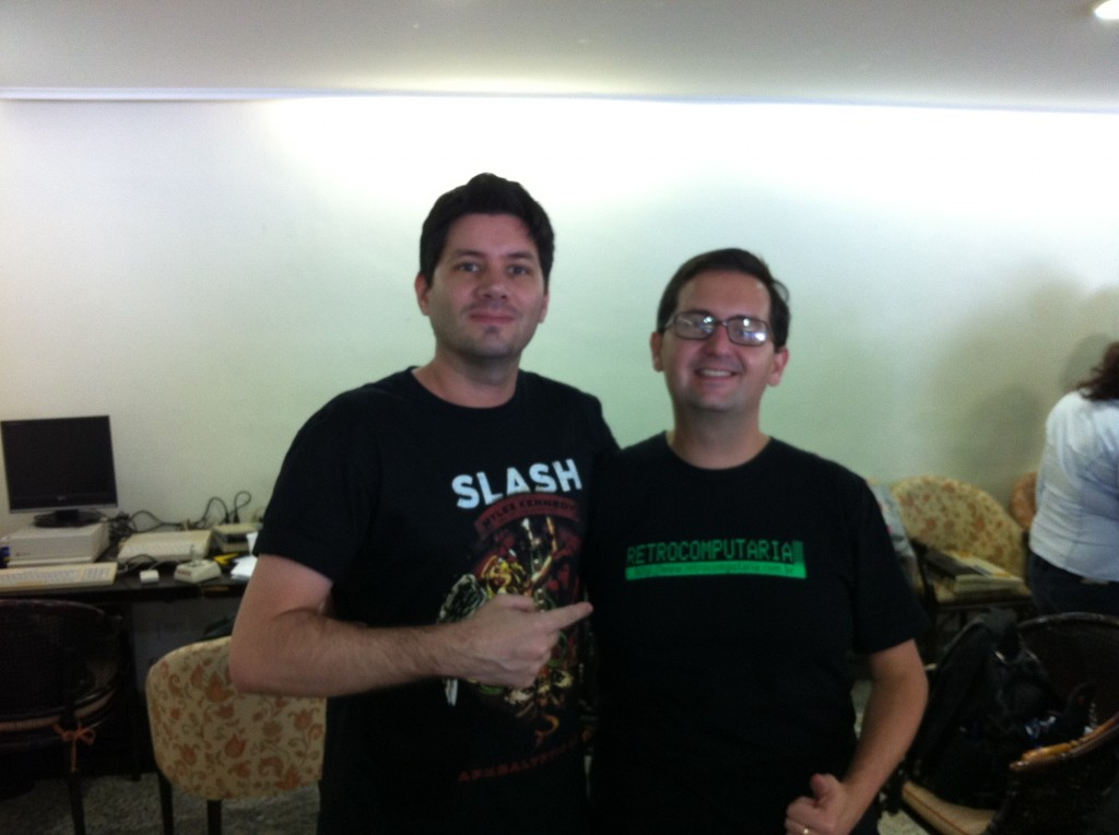 Com Garret no XI Encontro Apple II