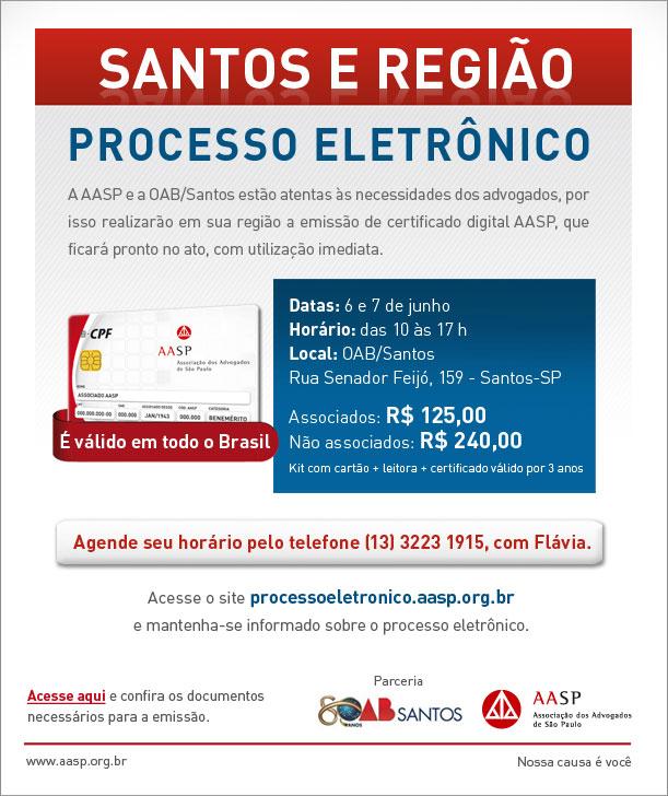 Emissão de certificado digital pela AASP na OAB/Santos