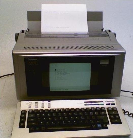 Máquina de escreve digital Panasonic W1505
