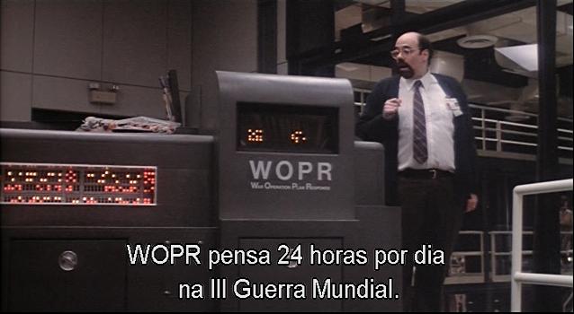 War Games - imagem do WOPR extraída do filme