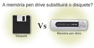 Disquete vs. memória pen drive