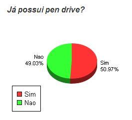 Segunda pesquisa feita pelo website Pen Drive Net