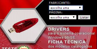 "Sistema de busca do link ""Ficha Técnica"" do website Pen Drive Net"