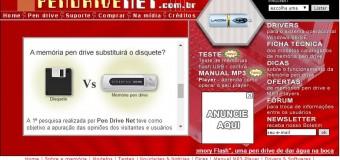 Tela do extinto website Pen Drive Net