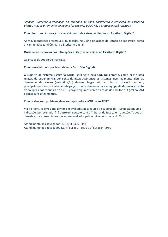 FAQ - Escritório digital CNJ - p2
