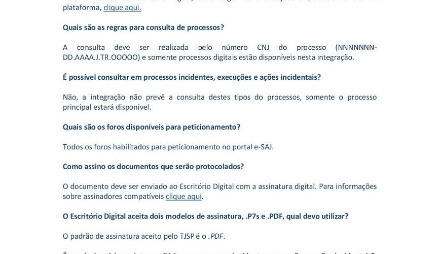 FAQ - Escritório digital CNJ